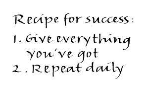 old recipe for success