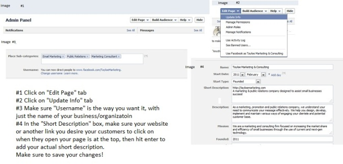Facebook Tips from Tayloe Marketing